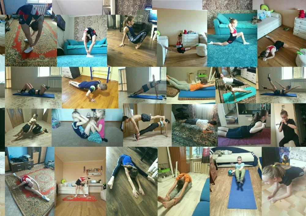 «Я тренируюсь дома»